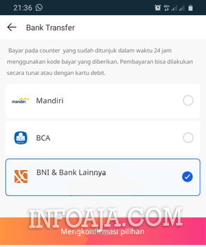 Bank Transfer BNI