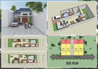 Site Plan Jual Rumah Bonus Gratis Pagar Rumah Dan Teralis, Sisa 2 Unit Di Jl Eka Rasmi - Eka Nusa Medan