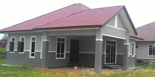 denah rumah sederhana di kampung