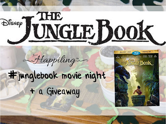 Just Happiling: Movie Night with Disney's The Jungle Book + a Giveaway (English / Español)