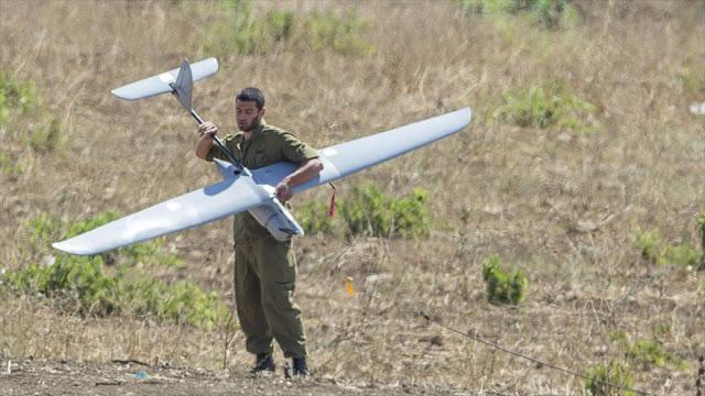 Un dron espía israelí cae en el sur de la Franja de Gaza