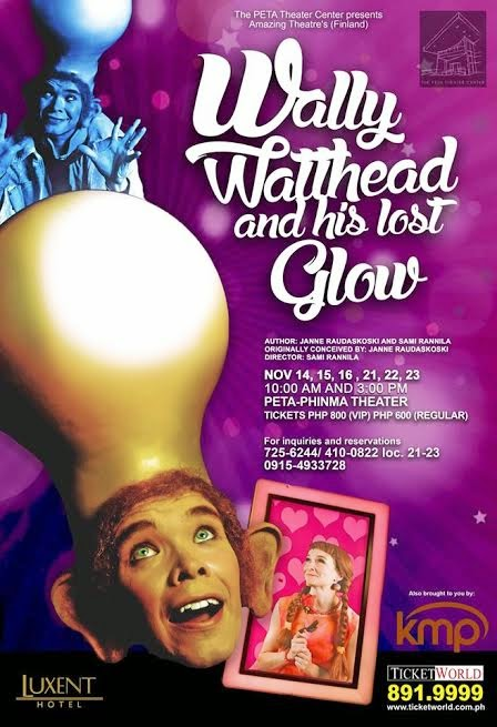 Finland's Amazing Magic Theater's Wally Watthead and his Lost Glow will fill the PETA Theater Center with magic