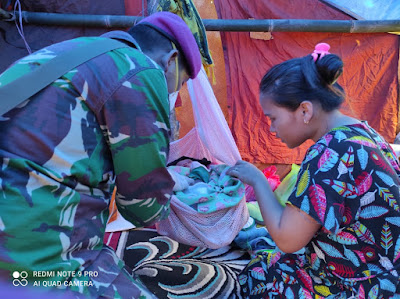 Satgas Kesehatan TNI Masuk Kampung Obati Warga Korban Gempa Bumi Sulbar