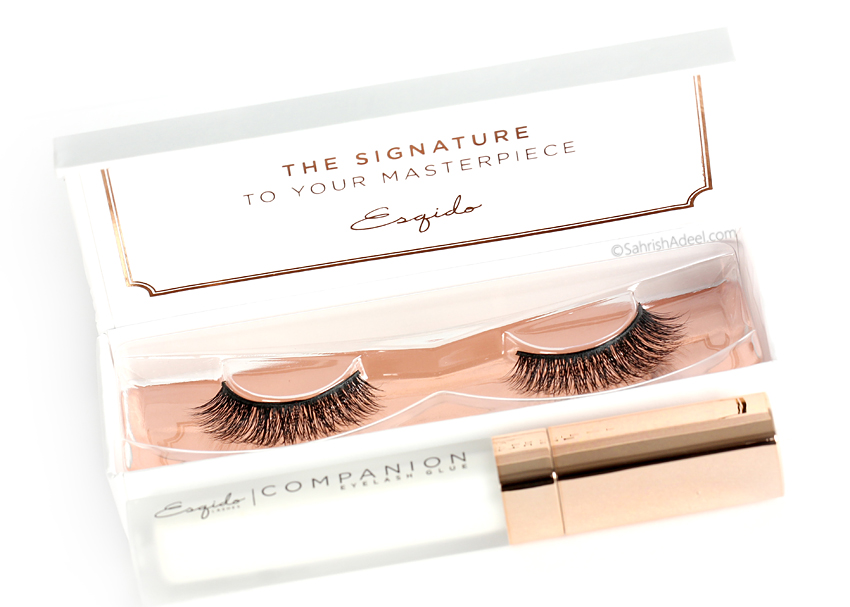 False Lashes and Companion Eyelash Glue by Esqido - Review, Before/After & Makeup Look