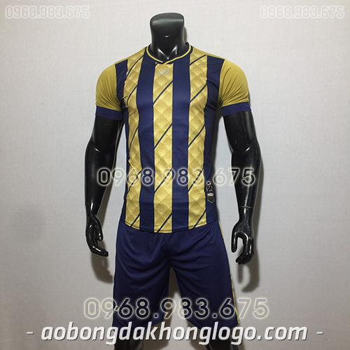 Áo bóng đá ko logo CP HuB màu đồng