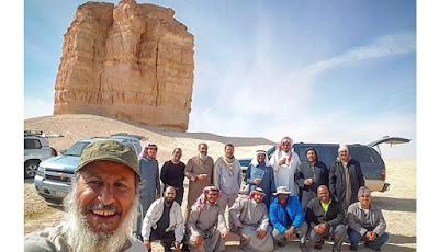 Gunung Kue Gurun atau Desert Cake di Arab Saudi