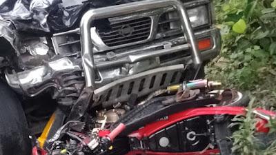 Nissan - Satria FU Adu Banteng di Hari Raya, 1 Orang Meninggal Ditempat