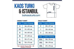 PANDUAN SIZE KAOS TURKI