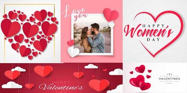 أجمل صور قلوب عيد الحب فيكتور و PSD  للتصميمات الرومانسيه والدعائية Valentine's Day Hearts 2020