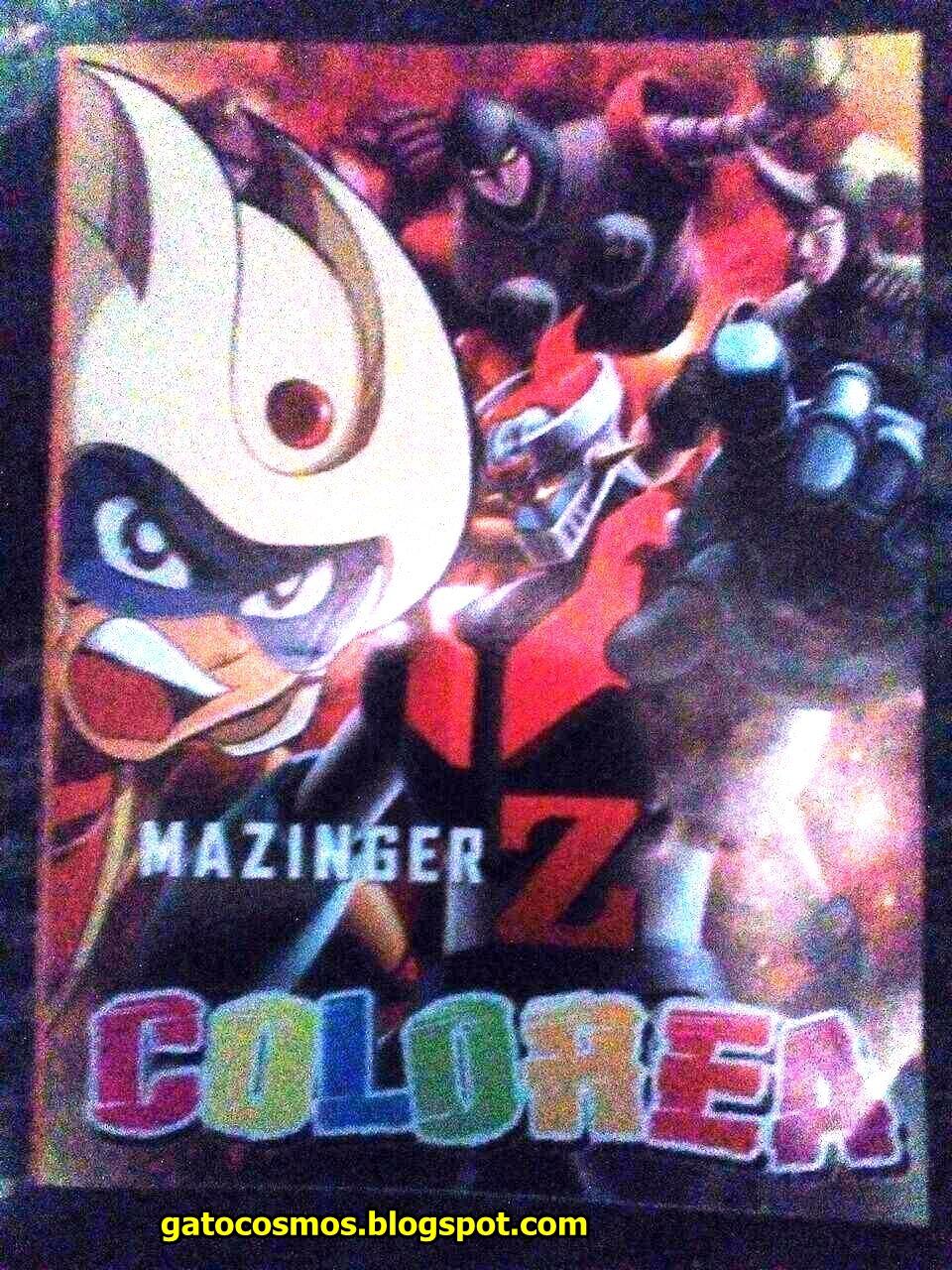 Cuaderno Para Colorear Mazinger Z Infinity No Oficial