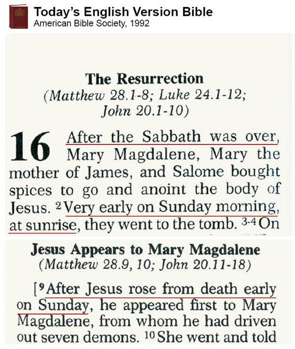 TEV: Sabatul este sâmbăta