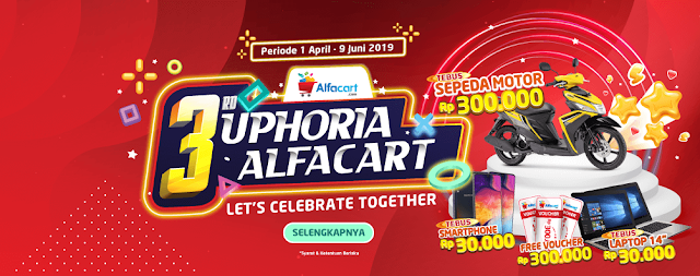 #Alfacart - #Promo Euforia 2019 Tebus Harga Murah & Hadiah Lainnya (s.d 09 Juni 2019)