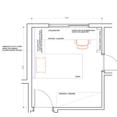 Dormitorio juvenil para espacios peque os for Plano habitacion