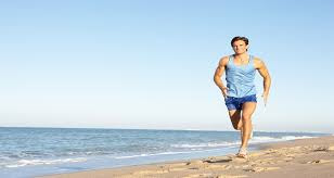 Man doing exercise to keep fit