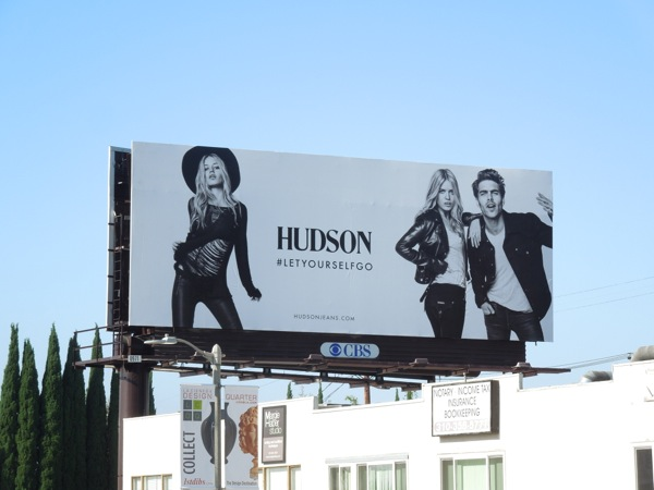 Hudson Jeans Georgia May Jagger FW 2013 billboards
