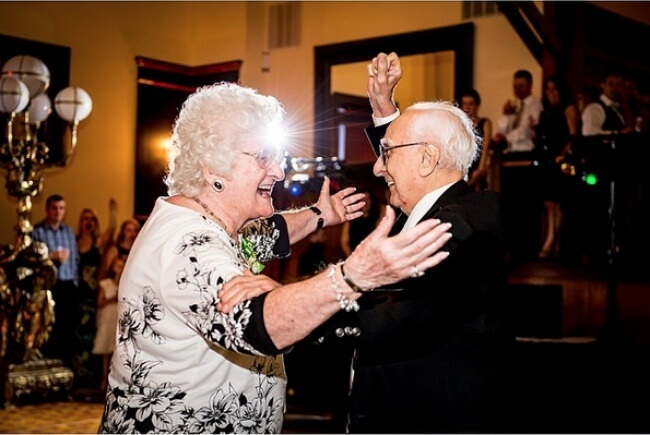 20 Exhilarating Images That Show Love Has No Age Limits - Big it up at your grandkids' or great-grandkids' weddings