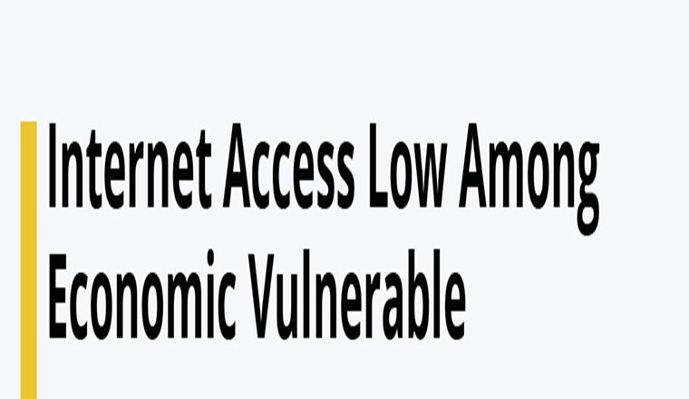 Internet Access Low Among Economic Vulnerable #infographic
