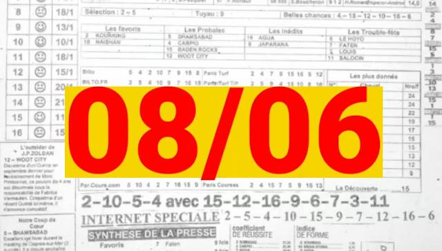 programme quinté Pronostic quinté Mardi 08/06/2021