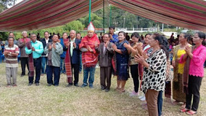 9 Desa Berangkatkan Vandiko Gultom Sebagai Calon Bupati Samosir