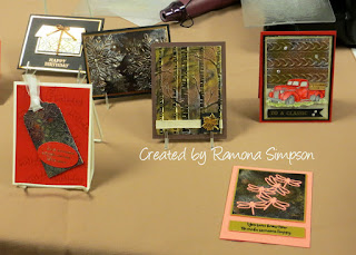 Tarnished Metal Technique Instructions ~ cards created by Ramona Simpson