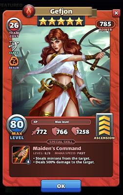 Gefjon Empires and Puzzles Hero Card