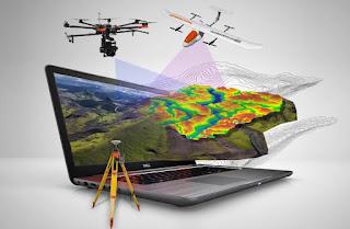 Foto udara, uav, drone