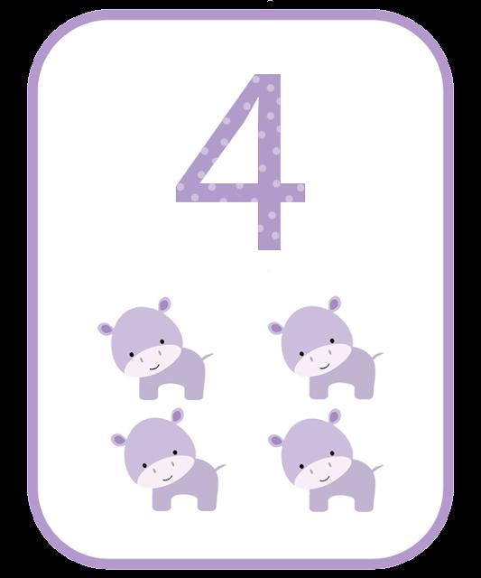 Number 4 Flashcard