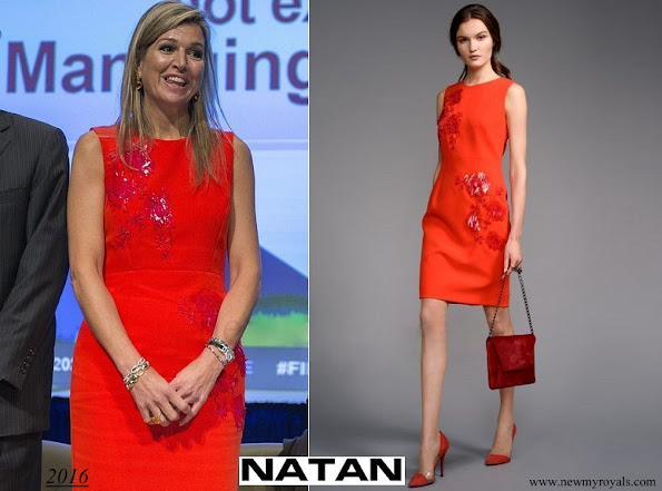 Queen Maxima wore Natan Dress Edouard Vermeulen Fall-Winter 2016