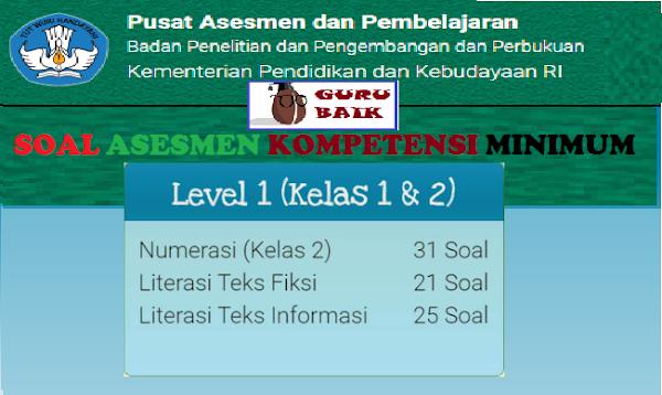 gambar soal akm daring level 1 kelas 1 dan 2