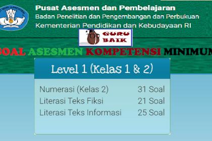 Kumpulan Contoh Soal AKM Daring Kelas 1 Dan 2 [Level 1]