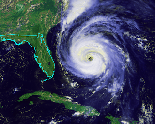 Hurricane v Florida size comparison