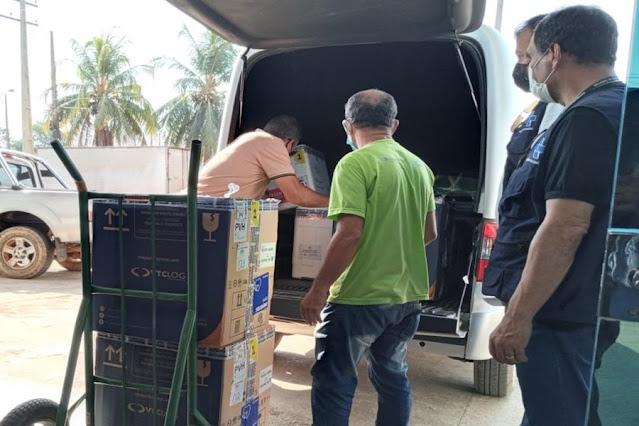 Rondônia recebe mais 40.010 doses de vacinas contra a Covid-19