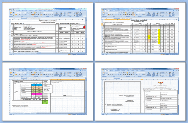 Aplikasi SKP Guru Berdasarkan Golongan Format Microsoft Excel