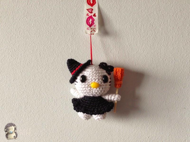 Kitty llavero amigurumi