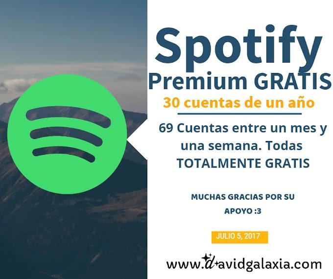 Cuentasde spotify premium gratis POR 1 AÑO | 2017