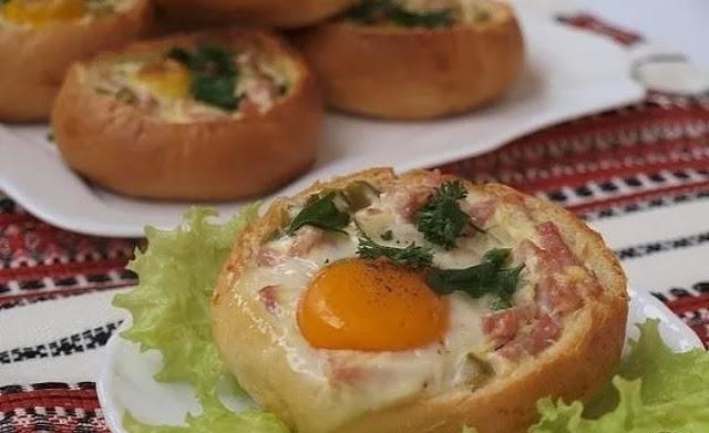 яйцо в булочке картинка