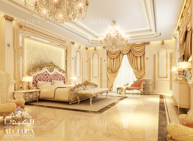 luxury classic bedroom interior design Dubai