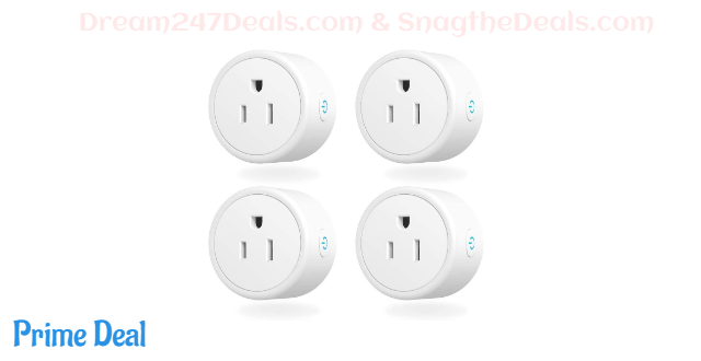 30%OFF alexa smart plugs 4 pack