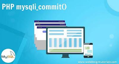 PHP mysqli_commit() Function
