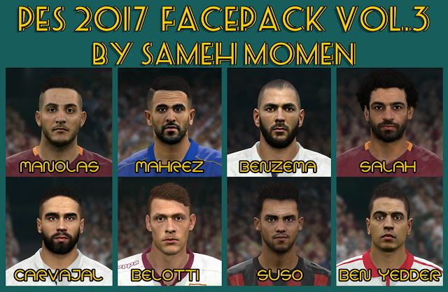 PES 2017 facepack vol.3 by Sameh Momen
