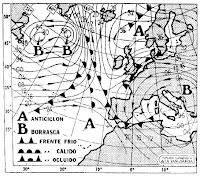 Mapa isobárico del 16/2/79