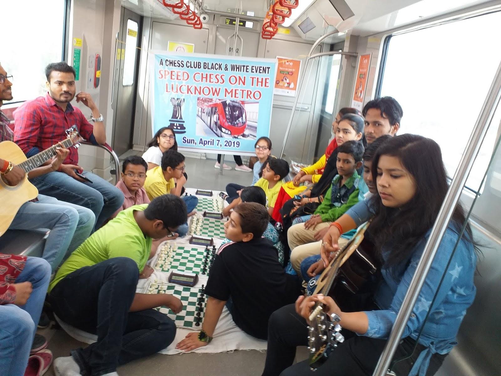Aryan Singh wins Speed Chess on Running Lucknow Metro