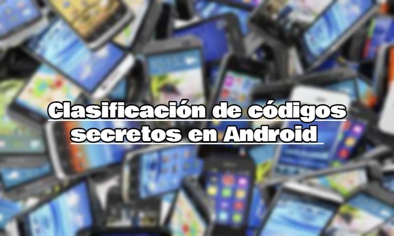 Clasificación de códigos secretos en Android
