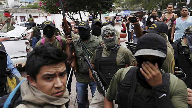 Cientos de civiles se levantan en armas en el sur de México