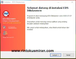 Rilis Perbaikan Aplikasi EDS Dikdasmen Versi 2020.07.07