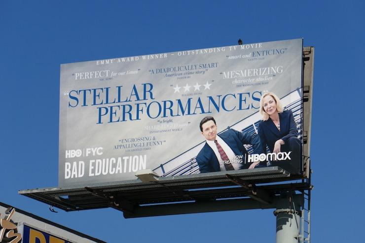 Bad Education FYC billboard
