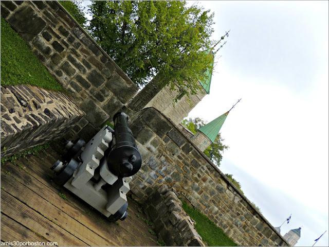 Uno de los Cañones de las Fortificaciones de la Ciudad de Quebec