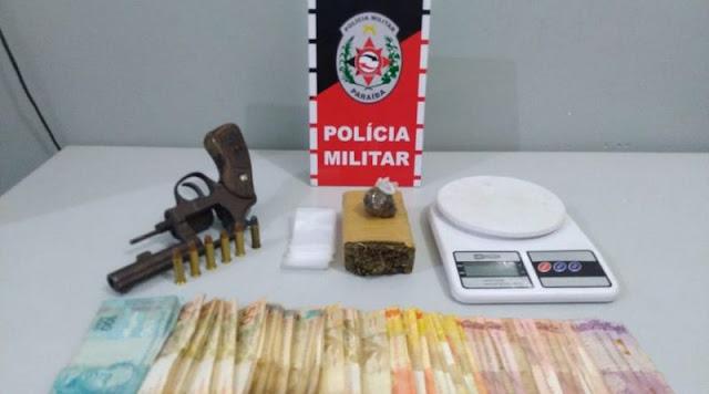 Polícia Militar apreende armas de fogo e drogas em Santa Rita