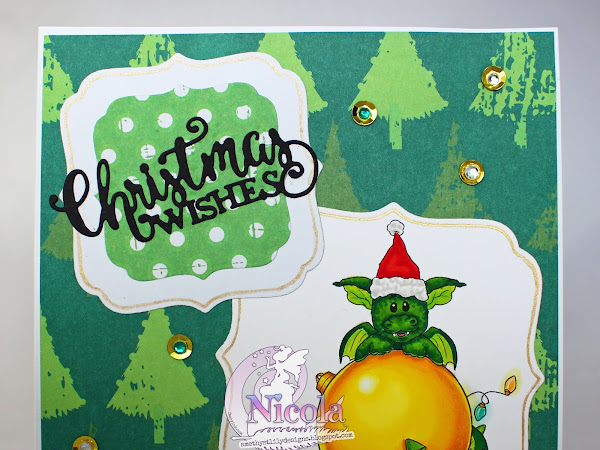 Layered Card using Lil Ember Christmas Ornament