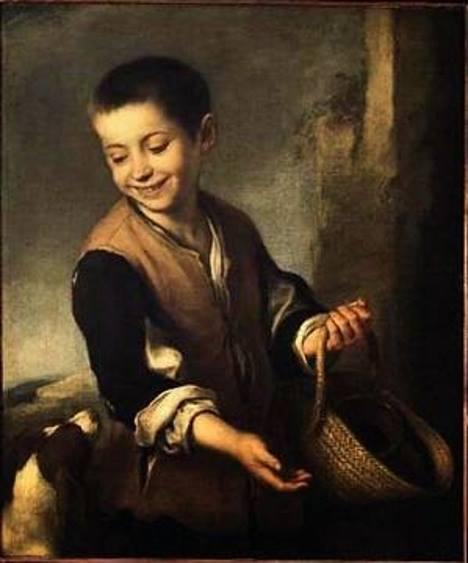 Menino e o Cachorro, pintura de Bartholomé Esteban.